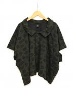 Y's(ワイズ)の古着「フラワーブラウス」|グリーン