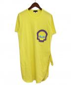 COMME des GARCONS HOMME PLUS(コムデギャルソン オムプリュス)の古着「スカルモチーフTシャツ」 イエロー