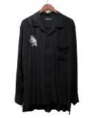 s'yte(サイト)の古着「オープンカラーシャツ」 ブラック