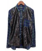 COMME des GARCONS HOMME PLUS(コムデギャルソンオムプリュス)の古着「スパンコール装飾シャツ」|グリーン