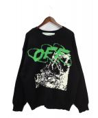 OFFWHITE(オフホワイト)の古着「Ruined Factory Knit Crewneck」|ブラック
