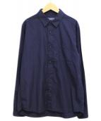()の古着「コットンシャツ」|ネイビー