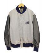N.HOOLYWOOD(エヌハリウッド)の古着「切替スタジャン」|グレー