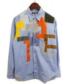 JUNYA WATANABE COMME des GARCONS MAN(ジュンヤワタナベ コムデギャルソン マン)の古着「パッチワークシャツ」|ブルー