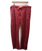 FACETASM(ファセッタズム)の古着「19AW LEOPARD KNIT PANTS」 レッド
