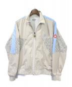 C.E(シーイー)の古着「トラックジャケット」 ベージュ×ライトブルー