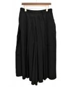 Yohji Yamamoto pour homme(ヨウジヤマモトプールオム)の古着「ウールギャバ袴パンツ」|ブラック