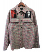 DIESEL BLACK GOLD(ディーゼルブラックゴールド)の古着「20AW S-IDOL チェックシャツ」|ベージュ