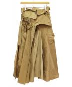 JUNYA WATANABE COMME des GARCONS(ジュンヤワタナベ コムデギャルソン)の古着「20SS デザインスカート」|ベージュ