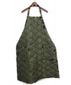 FACETASM(ファセッタズム)の古着「シワ加工キルティングエプロン」|カーキ