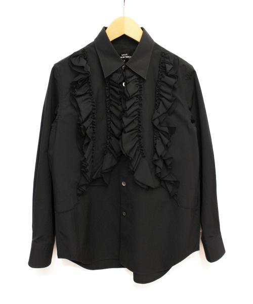 tricot COMME des GARCONS(トリココムデギャルソン)tricot COMME des GARCONS (トリコ コムデギャルソン) フリルブラウス ブラック サイズ:Sの古着・服飾アイテム