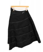 JUNYA WATANABE COMME des GARCONS(ジュンヤワタナベ コムデギャルソン)の古着「スパイラルジップスカート」|ブラック