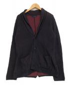 LARDINI(ラルディーニ)の古着「ショールカラージャケット」|ネイビー