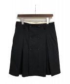 COMME des GARCONS HOMME PLUS(コムデギャルソンオムプリュス)の古着「キルトスカート」|ブラック