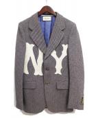 ()の古着「エンブロイダリーツイードジャケット」 グレー