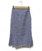 SIMON MILLER(サイモンミラー)の古着「ツイードスカート」|ブルー×ホワイト