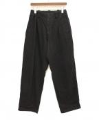 YOHJI YAMAMOTO(ヨウジヤマモト)の古着「ウエストゴムワイドタックパンツ」|ブラック