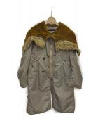 JUNYA WATANABE COMME des GARCONS(ジュンヤワタナベ コムデギャルソン)の古着「ナイロンモッズコート」|カーキ