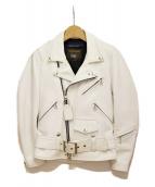 COMME des GARCONS(コムデギャルソン)の古着「×VANSON ダブルライダースジャケット」|ホワイト