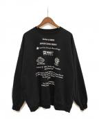 DAIRIKU(ダイリク)の古着「19AW END ROLL Washed Sweater」 ブラック