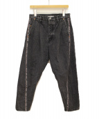 doublet(ダブレット)の古着「19SS 3D CUTTING DENIM PANTS」|ブラック