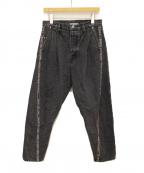 doublet(ダブレット)の古着「19SS 3D CUTTING DENIM PANTS」 ブラック