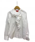 Vivienne Westwood RED LABEL(ヴィヴィアンウエストウッドレッドレーベル)の古着「フリルブラウス」|ホワイト