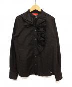 Vivienne Westwood RED LABEL(ヴィヴィアンウエストウッドレッドレーベル)の古着「フリルブラウス」|ブラック