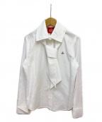Vivienne Westwood RED LABEL(ヴィヴィアンウエストウッドレッドレーベル)の古着「ボウタイブラウス」|ホワイト