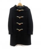 tricot COMME des GARCONS()の古着「アンゴラ混ダッフルコート」 ブラック