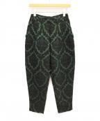 TOGA ARCHIVES(トーガ・アーカイブス)の古着「ジャガードパンツ」|グリーン
