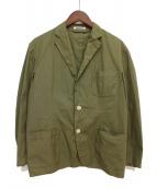 AURALEE(オーラリー)の古着「ハイカウントフィンクスシャンブレージャケット」|オリーブ
