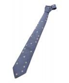 Yohji Yamamoto pour homme(ヨウジヤマモトプールオム)の古着「フラワー刺繍ネクタイ」|スカイブルー
