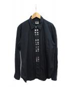 ()の古着「ボタンデザインシャツ」|ブラック