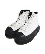 Y's(ワイズ)の古着「厚底ブーツ」 ホワイト×ブラック