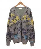 TOGA VIRILIS(トーガ ビリリース)の古着「20AW 織り柄カーディガン」 グレー