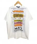 JUNYA WATANABE COMME des GARCONS MAN(ジュンヤワタナベコムデギャルソンマン)の古着「サンドウィッチプリントTシャツ」|ホワイト