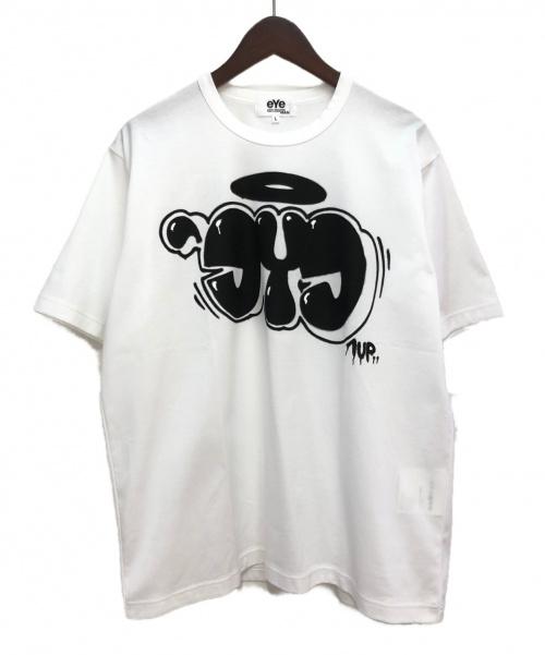 eYe JUNYA WATANABE COMME des GARCONS MAN(アイ ジュンヤ ワタナベ コム デ ギャルソン マン)eYe JUNYA WATANABE COMME des GARCONS MAN (アイ ジュンヤ ワタナベ コム デ ギャルソン マン) スプレープリントTシャツ ホワイト サイズ:Lの古着・服飾アイテム