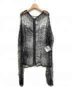 noir kei ninomiya(ノワール ケイ ニノミヤ)の古着「ローゲージジャケット」|ブラック