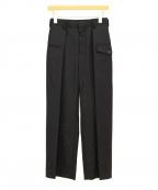 noir kei ninomiya(ノワール ケイ ニノミヤ)の古着「タックパンツ」|ブラック