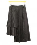 noir kei ninomiya(ノワール ケイ ニノミヤ)の古着「プリーツスカート」|ブラック