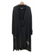 RONDO(ロンド)の古着「羽織コート」|ブラック
