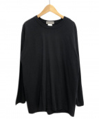 YOHJI YAMAMOTO(ヨウジヤマモト)の古着「ロゴデザインTシャツ」|ブラック