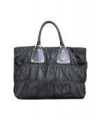 ()の古着「レザーハンドバッグ」|ブラック