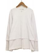 COMME des GARCONS SHIRT(コムデギャルソンシャツ)の古着「レイヤードロングスリーブTシャツ」|ホワイト