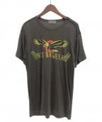 Yohji Yamamoto pour homme(ヨウジヤマモトプールオム)の古着「プリントTシャツ」|グレー