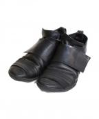 Trippen(トリッペン)の古着「×KLASICA ベルクロレザーシューズ」 ブラック