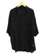 Y's(ワイズ)の古着「カットワークブラウス」|ブラック