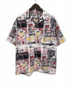 ()の古着「21SS ニュースペーパーシャツ」 ホワイト