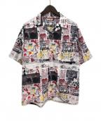 SYU.(シュウ)の古着「21SS ニュースペーパーシャツ」 ホワイト